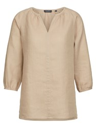 Marc O'polo Tunic Blouse In Pure Linen Beige