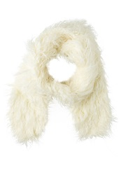 New Look Mongolian Scarf Winter White