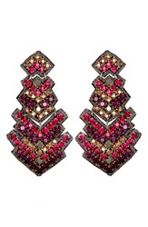 Suzanna Dai Women's 'Zocalo' Large Drop Earrings Plum Fuchsia
