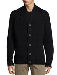 Theory Roden C. Park Wool Blend Cardigan Black