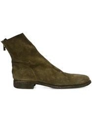 Guidi Back Zip Boots Green