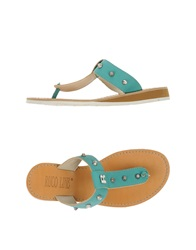Ruco Line Thong Sandals Turquoise