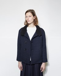Blue Blue Japan Wool Short Coat Navy
