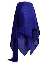 Issey Miyake Madame T Pleated Scarf Blue