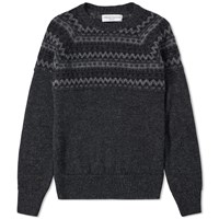 Officine Generale William Alpaca Knit Grey