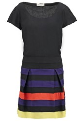 Naf Naf Enjoy Summer Dress Multicolore Black