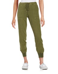 Sanctuary Squad Jogger Stretch Linen Pants Cactus