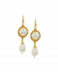 Nakamol Wire Wrapped Simulated Pearl Drop Earrings No Color