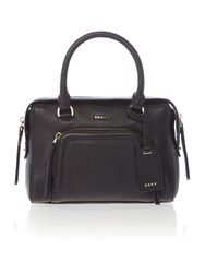 Dkny Chelsea Vintage Small Black Pocket Satchel Bag Black