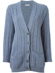 Yves Saint Laurent Vintage Cable Knit Cardigan Grey