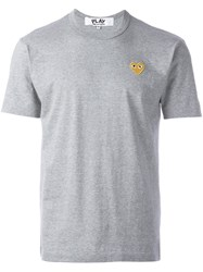 Comme Des Garcons Play Heart T Shirt Grey