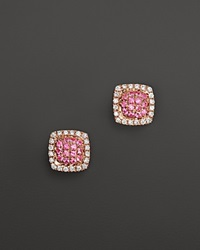 Dana Rebecca Designs Emily Sarah Earrings In 14K Rose Gold With Diamonds And Pink Sapphire
