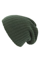Women's Free People 'Capsule' Slouchy Knit Beanie Green Forest Green