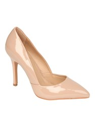 Jane Norman Patent Pointed Court Shoe Nude