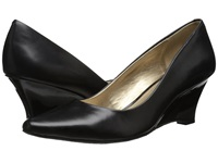 Circa Joan And David Deacon Black Leather Women's Wedge Shoes