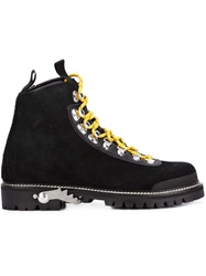 Off White Lace Up Boots Black