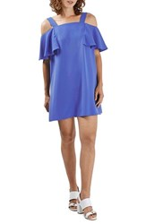 Topshop Petite Women's Cold Shoulder Shift Dress