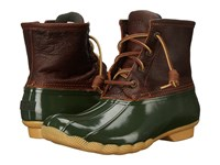 Sperry Saltwater Tan Green Women's Lace Up Boots