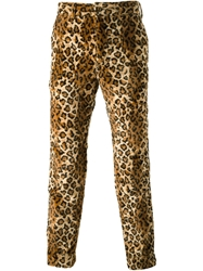 Engineered Garments Leopard Print Velour Trousers