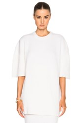 Ryan Roche Short Sleeve Cashmere Sweater In White