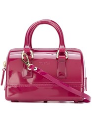 Furla Mini 'Candy Boston' Tote Pink And Purple