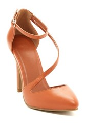 Kiss And Tell Rashon Ankle Strap Pump Brown