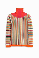 Missoni Women S Mesh Stripe Turtle Neck Boutique1 Multi