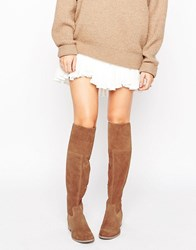 New Look Suede Over The Knee Boots Tan