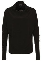 Norma Kamali All In One Long Sleeved Top Black