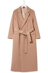 Cashmere Blend Wrap Coat By Boutique Warm Camel