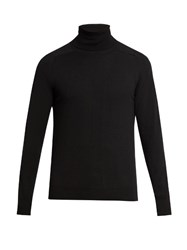 Ami Alexandre Mattiussi Wool And Cashmere Blend Roll Neck Sweater Black