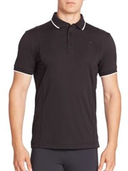 J. Lindeberg Will Slim Fit Jersey Polo Shirt Black