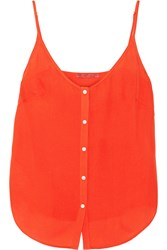Tamara Mellon Silk Georgette Camisole Orange