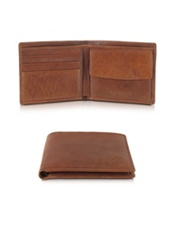 The Bridge Story Uomo Leather Billfold Wallet W Coin Pocket Brown