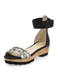 Jimmy Choo Neat Flat Platform Sandal Natural Black