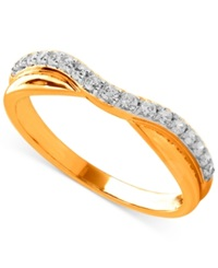 Macy's Diamond Contour Band In 14K Gold 1 6 Ct. T.W. Yellow Gold