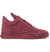 Filling Pieces Ghost Suede Sneakers Burgundy