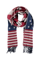 Forever 21 American Flag Scarf Red Navy