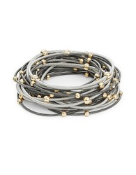 Design Lab Lord And Taylor Guitar String Stretch Bracelet Set Mixed Metal
