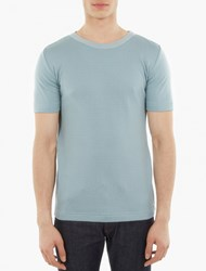 S.N.S. Herning Blue Knitted Cotton T Shirt