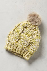 Anthropologie Pommed Conway Beanie Green