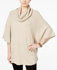 Styleandco. Style Co. Cowl Neck Poncho Sweater Only At Macy's Hammock Heather Ivory