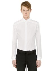 Haider Ackermann Lace Up Cotton Poplin Shirt