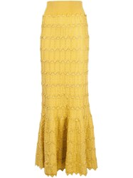 Pepa Pombo Long Tulip Skirt Yellow And Orange