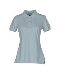 Woolrich Topwear Polo Shirts Women Sky Blue