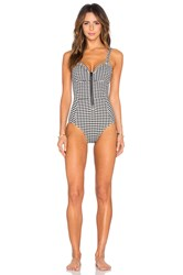 Lonely Edie One Piece Swimsuit Black And White