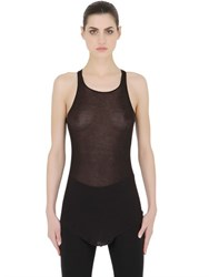 Rick Owens Basic Cotton Micro Rib Knit Tank Top