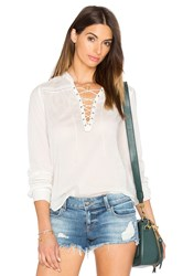 Paige Tansy Top White
