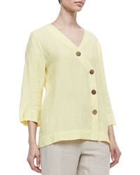 Neiman Marcus Long Sleeve Tunic With Large Notched Buttons Medium8