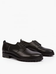 Lanvin Black Leather Derby Shoes